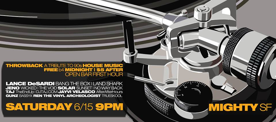 Sf underground events san francisco for Classic house list 90s